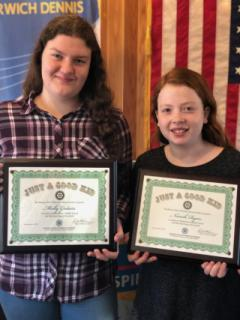 """Harwich-Dennis Rotary Club Honors """"Just Good Kids"""""""