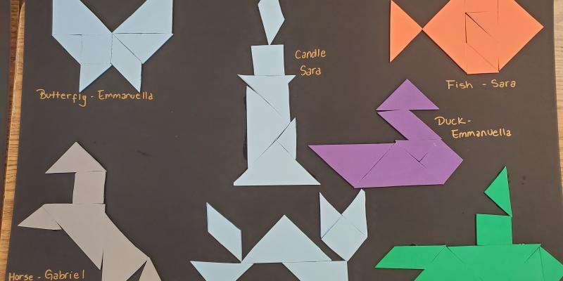 MMS Ms. Ellis Tangram Wall