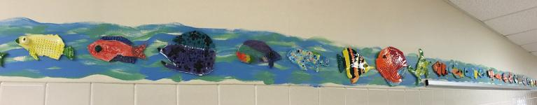 Student made ceramic fish