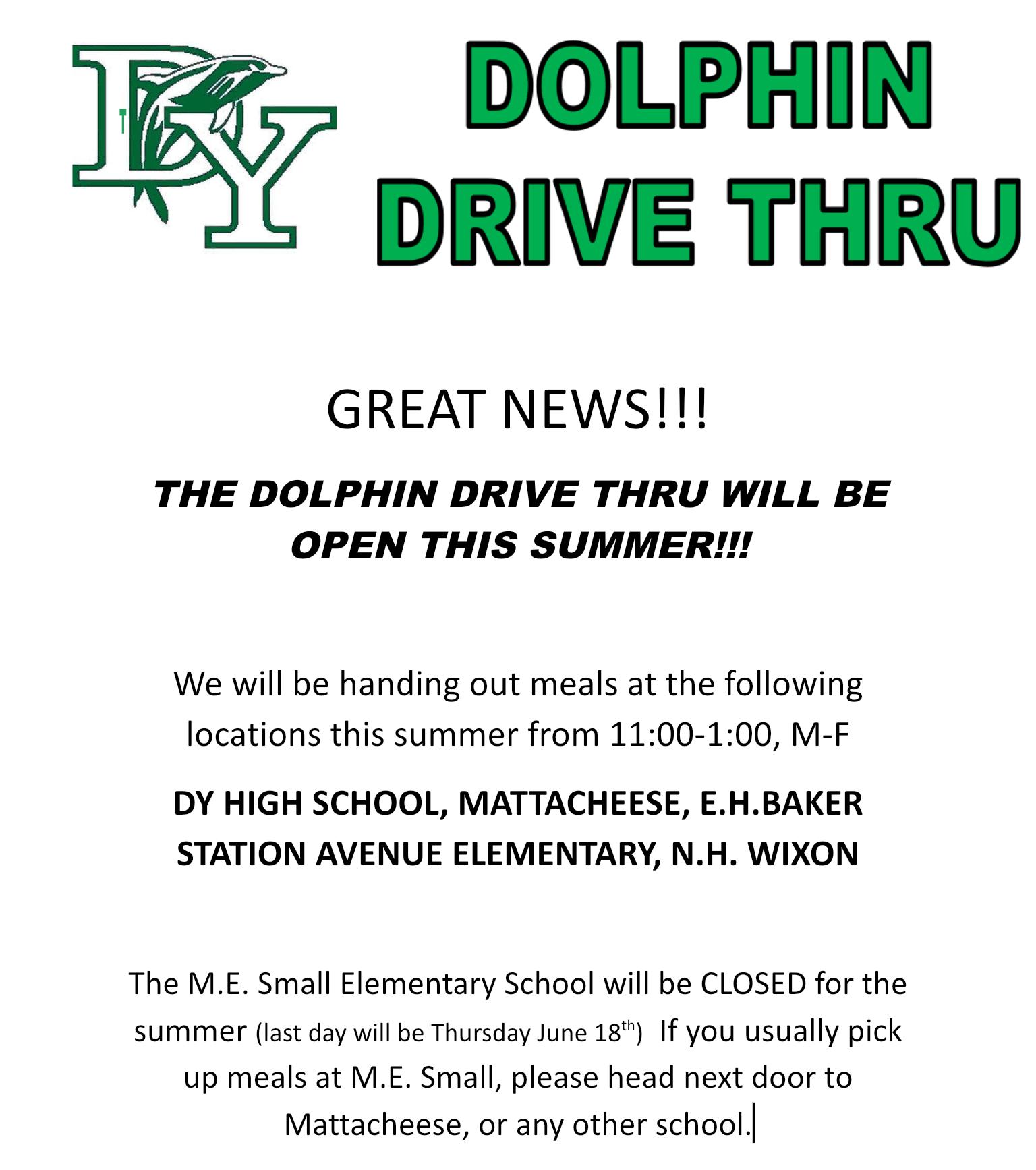 Dolphin Drive Thru Continues Through Summer
